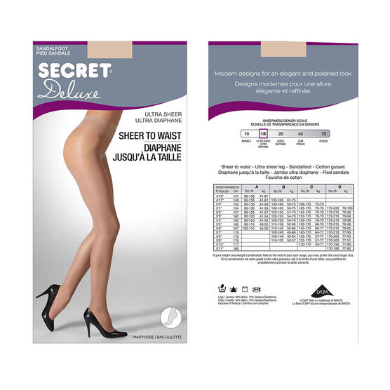 Secret Deluxe Ultra Sheer to Waist - C - Nude