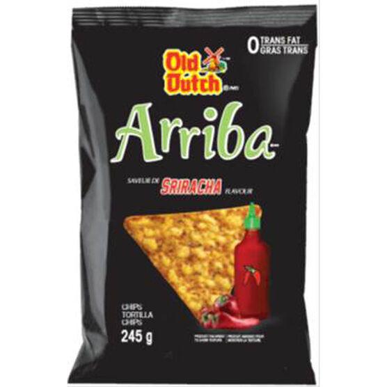 Old Dutch Arriba Tortilla Chips - Sriracha - 245g