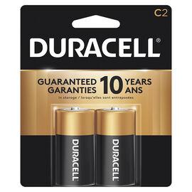 Duracell CopperTop C Alkaline Batteries - 2 pack