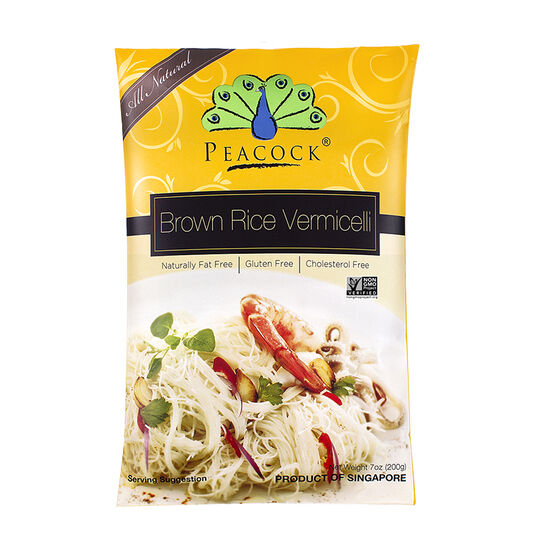 Peacock Brown Rice Vermicelli - Gluten Free - 200g