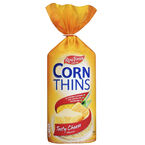 Real Foods Corn Thins - Cheese - 125g