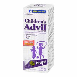 Advil Children's Suspension - Dye-Free Grape - 230ml