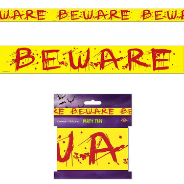 Halloween Beware Party Tape - 3 in x 20 in