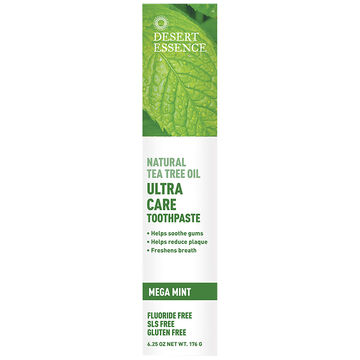 Desert Essence Tea Tree Oil Ultra Care Toothpaste - Mega Mint - 176g