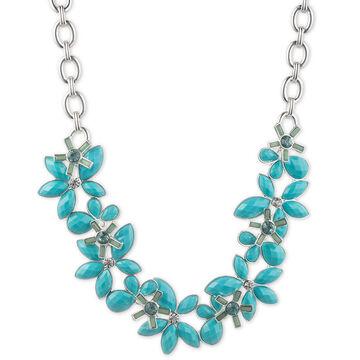 Anne Klein Flower Collar Necklace - Turquoise