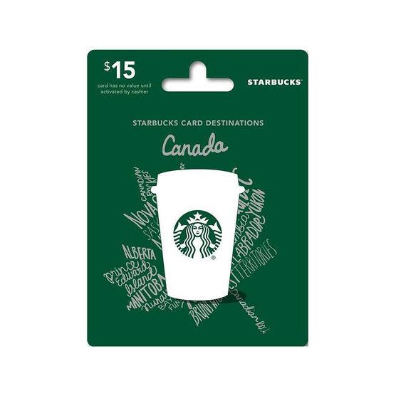 Starbucks Canada Gift Card - $15