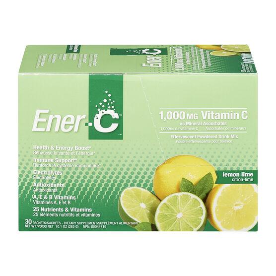 Ener-C Vitamin C Powered Drink Mix - 1000mg- Lemon Lime - 30's