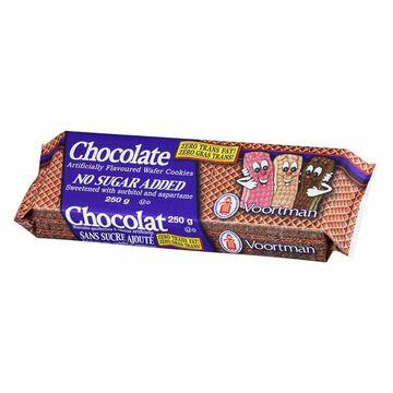 Voortman No Sugar Added Chocolate Wafers - 250 g