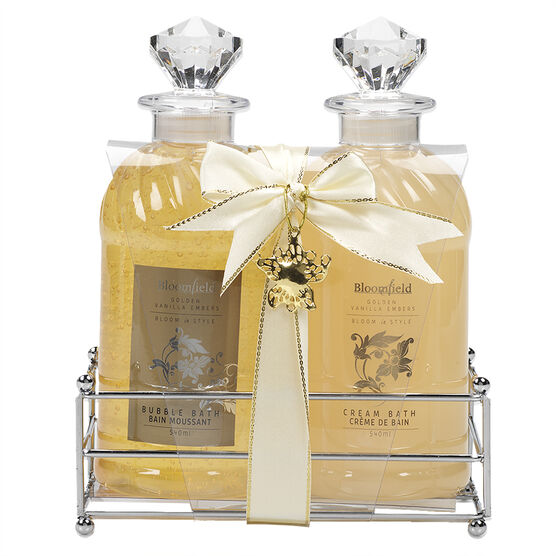 Bloomfield Bath Caddy Set - Golden Vanilla Embers - 2 piece