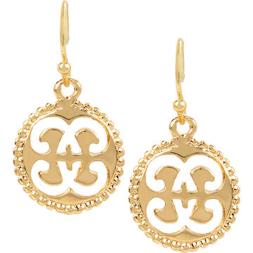 Haskell Cut-out Drop Earring - Gold