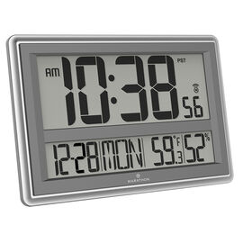 Marathon Jumbo Atomic Clock - Silver - CL030056SV