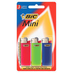 BIC Mini Lighters With Child Guard - 3 Pack