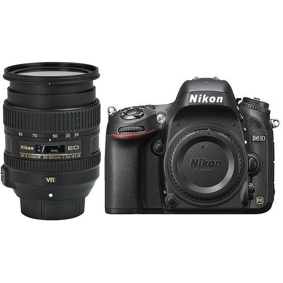 Nikon D610 FX w/24-85mm VR Lens