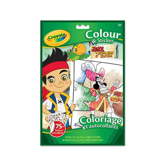 Crayola Jake and the Neverland Pirates Colour & Sticker Book