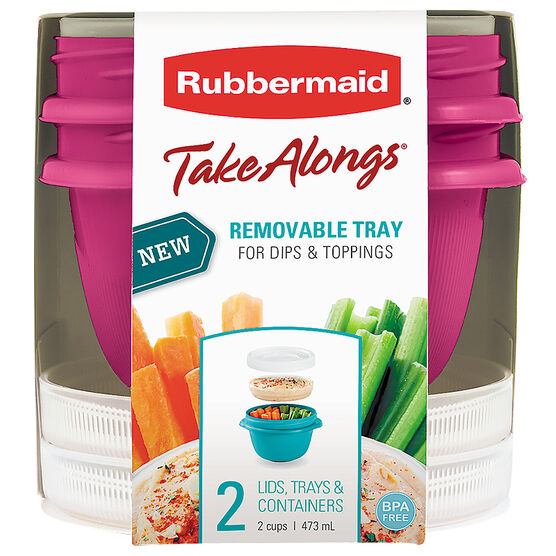 Rubbermaid TakeAlongs Breakfast - 2cup - 2pack