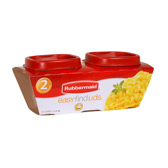Rubbermaid Easy Find Lid Square Food Storage - 2 pack - 118ml