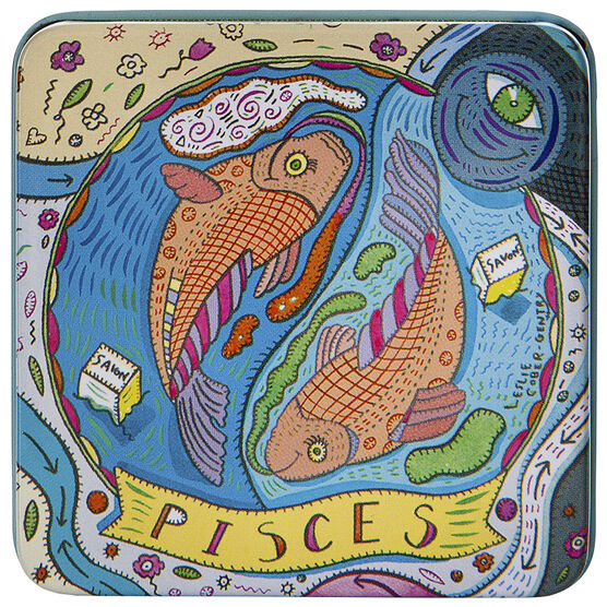 Zodiac Soap in Tin - Pisces - 100g