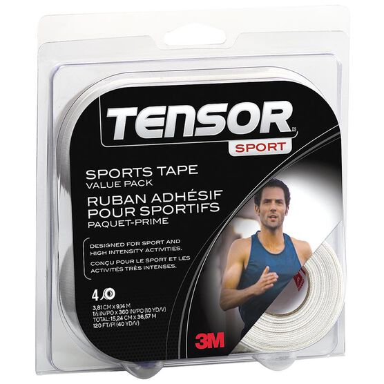 Tensor Sports Tape Value Pack - 4 Rolls