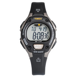 Timex Ironman Triathlon 30 Lap Mid Size Watch - Black Gray - 5E961