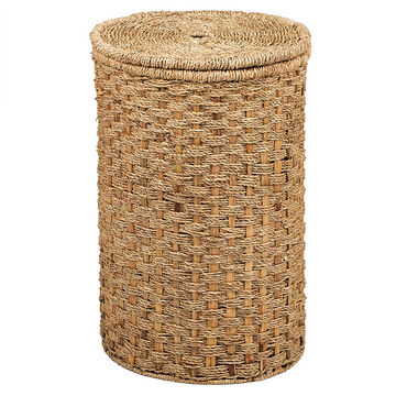 London Drugs Seagrass Water Hyacinth Hamper with Lid - 34 x 56cm