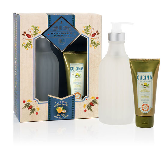 Fruit & Passion Cucina Hand Care Duo - Sea Salt and Amalfi Lemon