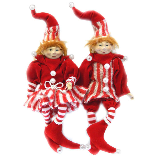 Christmas Forever Poseable Elf - 9in - Red - XM-VR2810 - Assorted