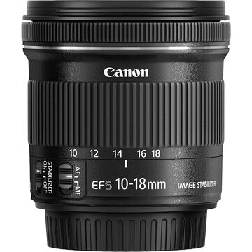 Canon EF-S 10-18mm f/4.5-5.6 IS STM Ultra Wide Zoom Lens - 9519B002