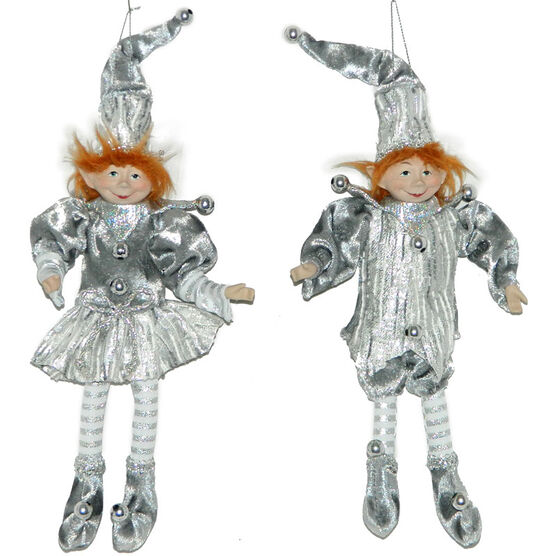 Christmas Forever Posable Elf - 9in - Grey/Silver - XM-VG1147 - Assorted