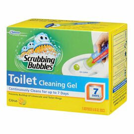 Scrubbing Bubbles Toilet Cleaning Gel - Citrus - 6 gel discs