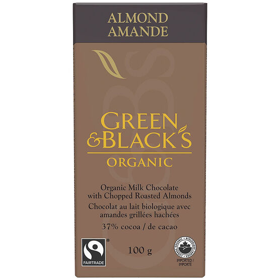 Green & Black's Organic Milk Chocolate - Roasted Almond - 100g