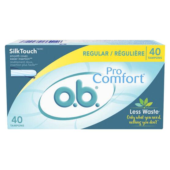 O.B. Pro Comfort Regular Tampons - 40's
