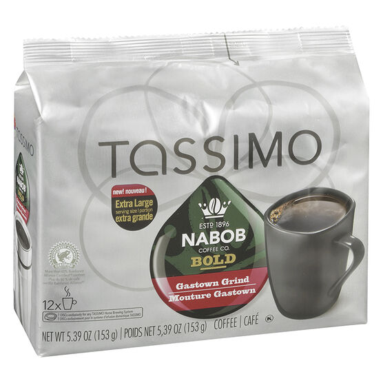 tassimo nabob coffee pods bold gas town 12 servings. Black Bedroom Furniture Sets. Home Design Ideas