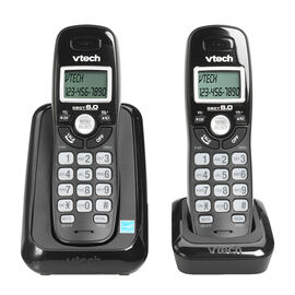 VTech 2-Handset Cordless Phone with Caller ID - Black - CS611421
