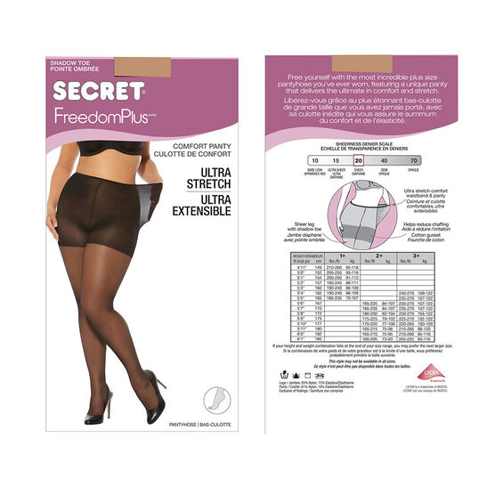 Secret Freedom Plus Pantyhose - Neutral - 1XL