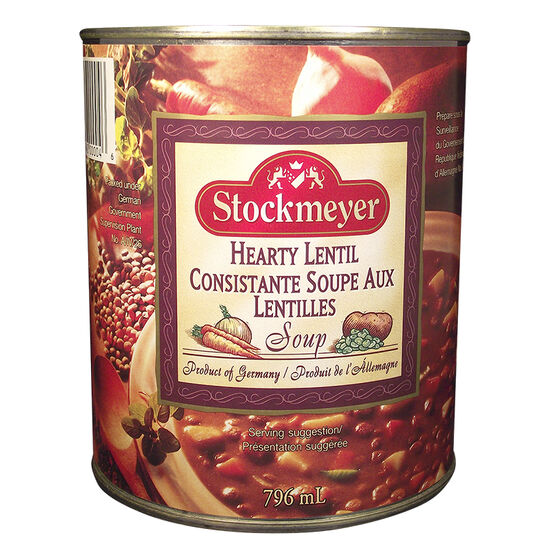 Stockmeyer Soup - Hearty Lentil - 796ml