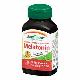 Jamieson Melatonin 10 mg Fast Dissolving Timed Release Tablets - 60's