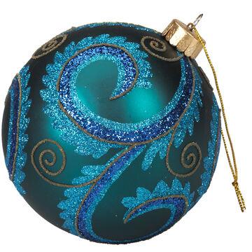 Winter Wishes Elegance Ball Ornament - Blue