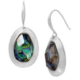 Robert Lee Morris Drop Earrings - Abalone/Silver