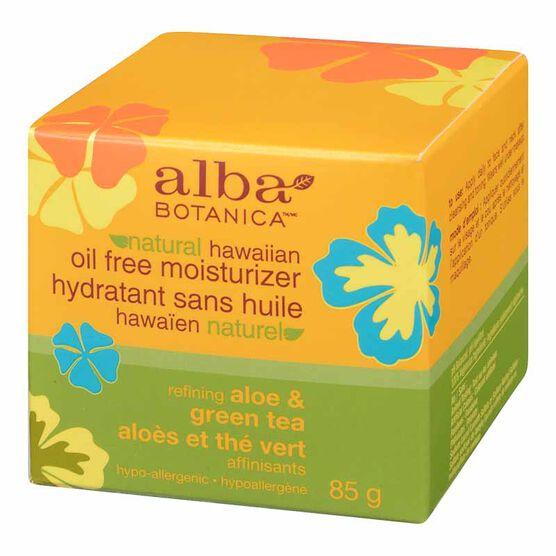 Alba Hawaiian Oil-Free Moisturizer - Aloe & Green Tea - 85g