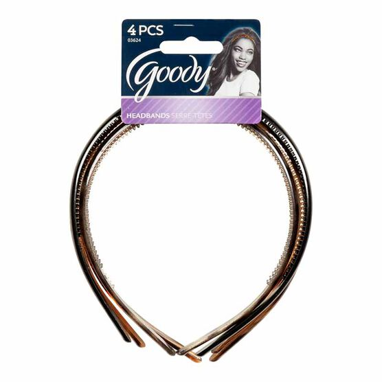 Goody Classics Thin Patterned Headbands - 4's