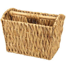 London Drugs Water Hyacinth Magazine Basket with Wood Handle