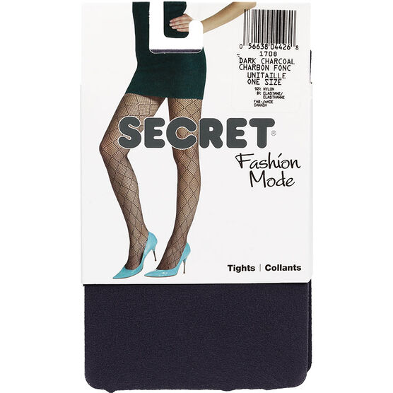 Secret Fashion Mode Tights  - Dark Charcoal