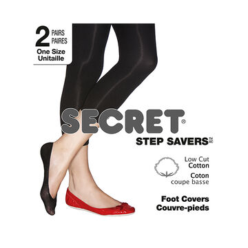 Secret Step Saver Foot Cover - Black - 2 pair