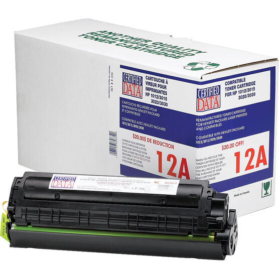 Certified Data 12A Remanufactured Toner Cartridge