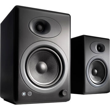 Audioengine A5+ Premium Powered Bookshelf Speakers - Black - A5+B-115V