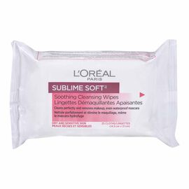 L'Oreal Sublime Soft Soothing Cleansing Wipes 25's