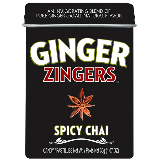 Ginger Zingers Candy - Spicy Chai - 30g