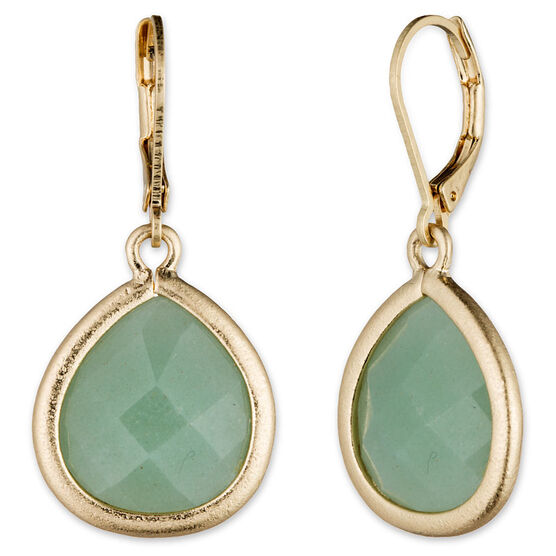 Lonna Lilly Pendant Teardrop Earrings - Green