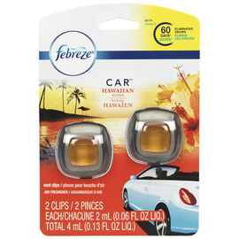 Febreze Auto Air Freshener - Hawaiian Aloha - 2 pack/4ml