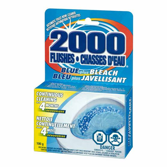 2000 Flushes Blue Plus Bleach